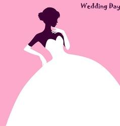 Wedding Fashion elegant bride dress vector image vector image
