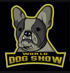 world dog show logo vector image vector image