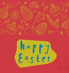 easter poster card banner brushpen vector image