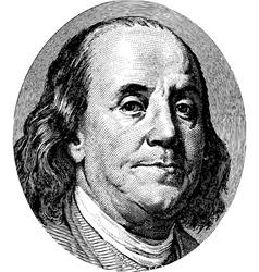 Franklin Portrait vector image vector image
