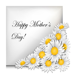 Mothers day card with daisies vector image