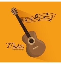 music festival guitar instrument poster vector image