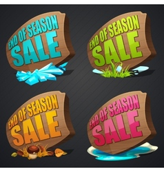 Set of season sales labels vector image vector image