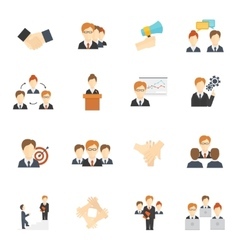 Teamwork Icons Flat vector image vector image