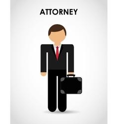 attorney icon vector image vector image