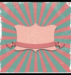 Retro label background vector image
