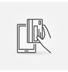 Smartphone payment concept icon vector