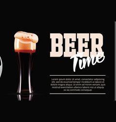 sport and beer template banner photo-realistic vector image vector image