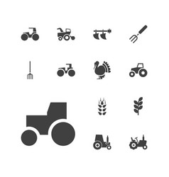 13 agricultural icons vector