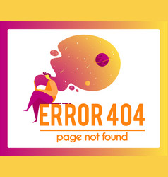404 error page not found isolated in white vector image