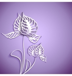 Abstract 3D Paper Flowers vector