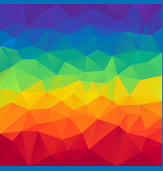 Abstract polygonal square background rainbow vector
