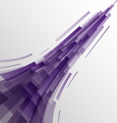 Abstract violet rectangles technology background vector image