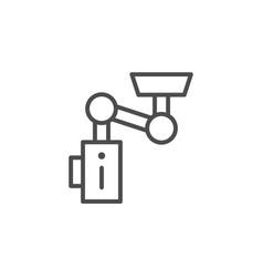 Action camera fastening line icon vector