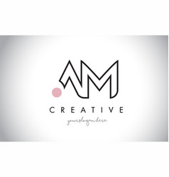 Am letter logo design with creative modern trendy vector