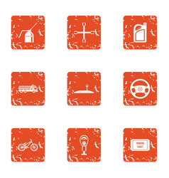 Apartment repair icons set grunge style vector