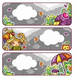 Autumn banners part 2 vector