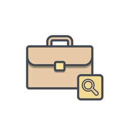 bag briefcase business portfolio search vector image