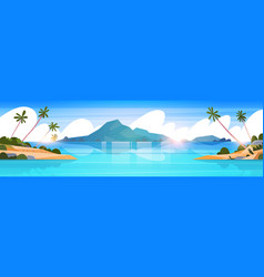 beautiful tropical beach landscape summer seaside vector image