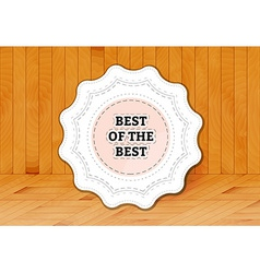 Best of the best stamp vector