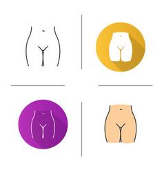Bikini zone icon vector