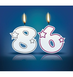 Birthday candle number 86 vector