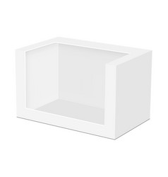 Blank packaging box mockup for toy isolated vector