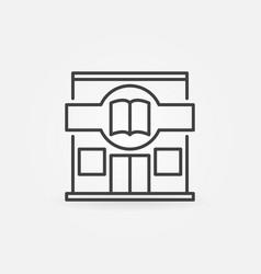 Bookstore building icon vector
