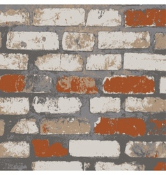 Brick wall of the house with lines of a laying of vector image