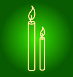 Burning candles icon vector