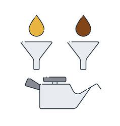 Car oil change vector