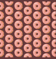 cartoon seamless pattern with glazed donuts donut vector image
