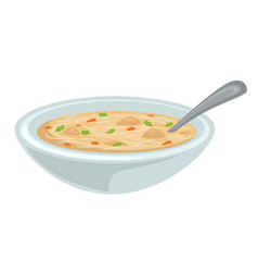 Chicken broth or bouillon poultry soup isolated vector