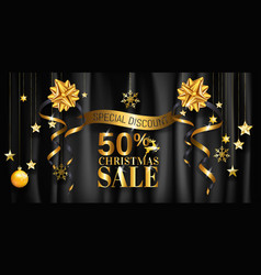 Christmas sale banner design for poster web vector