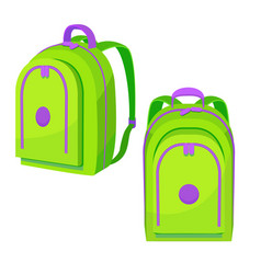colorful school backpack in cartoon style vector image