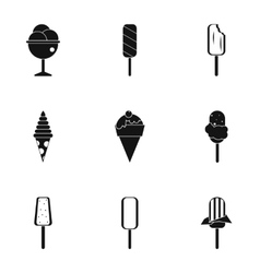 Cool treat icons set simple style vector