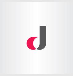 D letter logo symbol element icon vector