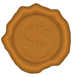 Dollar and sealing wax vector