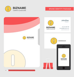 error business logo file cover visiting card and vector image