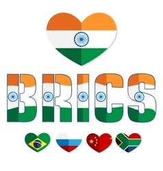 Flag of the BRICS countries color web icon vector