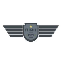 flight 1989 icon logo flat style vector image