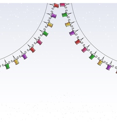 Garland of colored paper lanterns vector image