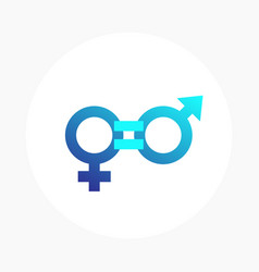 Gender equity icon vector