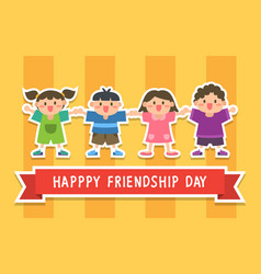 Happy friendship day with children vector
