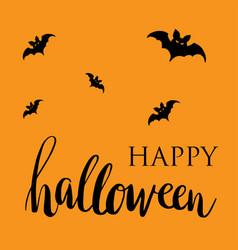 happy halloween card flat design vector image