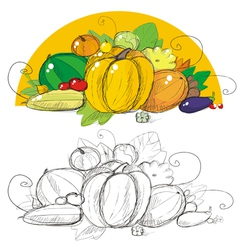 Harvest vegetables vector