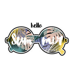 hello summer text hand lettering inside vector image