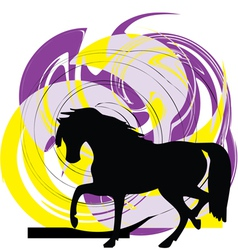 Horse running vector