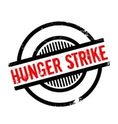 Hunger strike rubber stamp vector