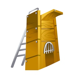 Icon diving board vector